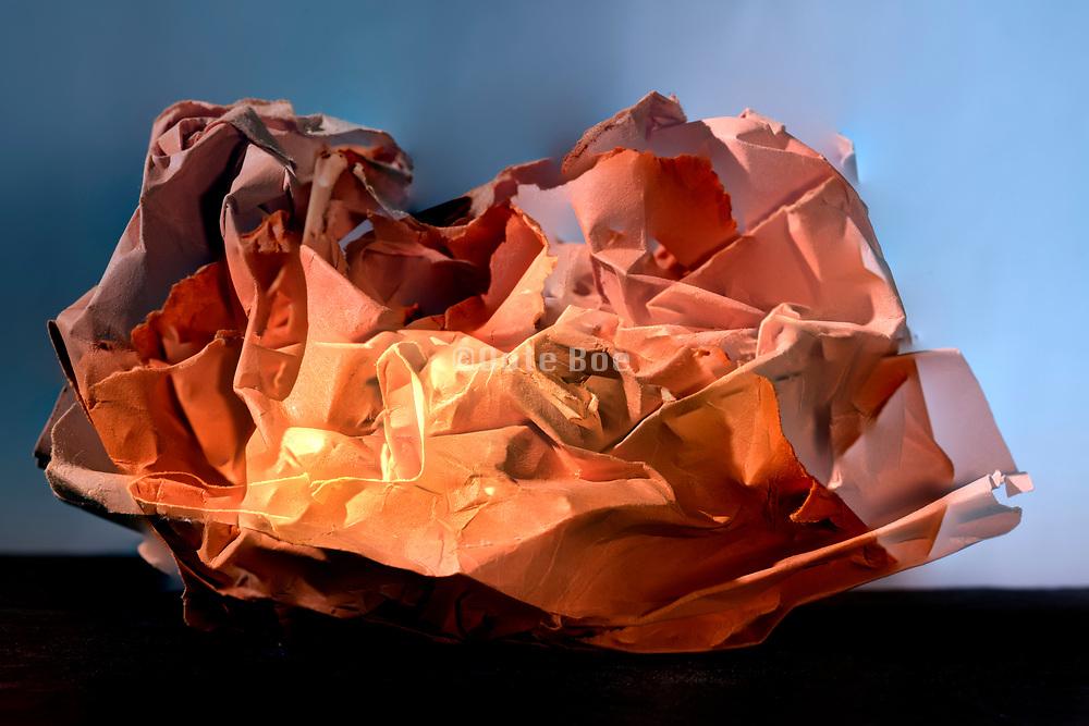 crumpled orange paper