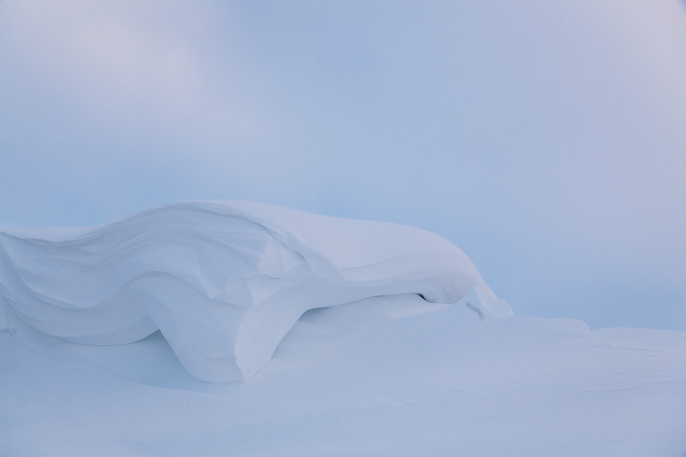 A pillow of freshly fallen snow on Rabotbreen, Svalbard.
