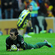 Galatasaray's goalkeeper Nestor Fernando Muslera during their Turkish superleague soccer derby match Galatasaray between Fenerbahce at the TT Arena in Istanbul Turkey on Friday, 18 March 2011. Photo by TURKPIX