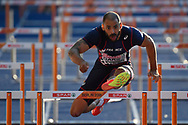 Garfiel Darien (FRA) competes in 110m Hurdles Men during the European Championships 2018, at Olympic Stadium in Berlin, Germany, Day 4, on August 10, 2018 - Photo Photo Julien Crosnier / KMSP / ProSportsImages / DPPI