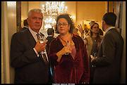 MATHEW PRICHARD; SOPHIE HANNAH, launch of Sophie Hannah's Agatha Christie ' The Monogram Murders ' at the Ritz London. 8 September 2014