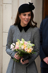 © Licensed to London News Pictures. 19/03/2019. London, UK. Kate Duchess of Cambridge visits King's College to open Bush House, the latest education and learning facilities on the Strand Campus. Photo credit: Ray Tang/LNP