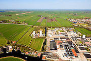 Nederland, Friesland, Gemeente Skarsterlan (Scharsterland), 01-05-2013; Joure, fabriek van Douwe Egberts met Haskerveenpolder in de achtergrond.<br /> Coffee Factory of the Douwe Egberts Company in the polder. <br /> luchtfoto (toeslag op standard tarieven)<br /> aerial photo (additional fee required)<br /> copyright foto/photo Siebe Swart