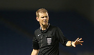 Referee Ian Fissenden during the Barclays U21 Premier League Cup match between Brighton U21 and U21 Norwich City at the American Express Community Stadium, Brighton and Hove, England on 12 November 2015.