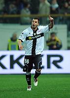 Fotball<br /> Italia<br /> Foto: Inside/Digitalsport<br /> NORWAY ONLY<br /> <br /> Esultanza di Valeri BOJINOV Parma dopo il gol 1-0.<br /> <br /> Parma v Milan<br /> Campionato calcio Serie A<br /> 24.03.2010