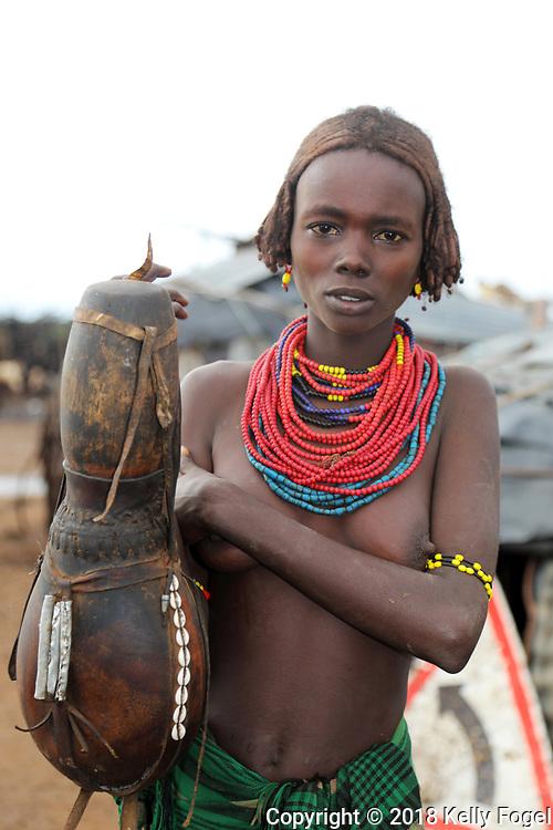 Dasanech Village, Omo Valley, Southern Ethiopia. Omorate.