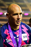 Captain Sergio Parisse after winning the European Rugby Challenge Cup match between Gloucester Rugby and Stade Francais at BT Murrayfield, Edinburgh, Scotland on 12 May 2017. Photo by Kevin Murray.