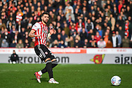 Brentford Defender Yoann Barbet (29) in action during the EFL Sky Bet Championship match between Brentford and Queens Park Rangers at Griffin Park, London, England on 2 March 2019.
