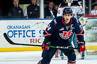 KELOWNA, BC - MARCH 7: Dylan Cozens #24 of the Lethbridge Hurricanes skates against the Kelowna Rockets at Prospera Place on March 7, 2020 in Kelowna, Canada. Cozens was selected in the 2019 NHL entry draft by the Buffalo Sabres. (Photo by Marissa Baecker/Shoot the Breeze)