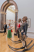 Defending Integrity from teh Power that Be by Tim Shaw £60,000  - The Royal Academy's 249th Summer Exhibition - co-ordinated by Eileen Cooper RA. The hanging committee will consist of Royal Academicians Ann Christopher, Gus Cummins, Bill Jacklin, Fiona Rae, Rebecca Salter and Yinka Shonibare. This year, the Architecture Gallery will be curated by Farshid Moussavi RA. The exhibition, sponsored by Insight Investment is open to the public 13 June – 20 August 2017. London 07 June 2017.