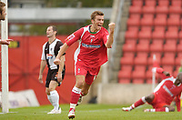 Photo: Leigh Quinnell.<br /> Swindon Town v Grimsby Town. Coca Cola League 2. 14/10/2006. Michael Pook celebrates his goal for Swindon Town.