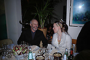 Mike Radford and Daphne Guinness. Dinner at San Lorenzo, Beauchamp Place after Tod's hosts Book signing with Dante Ferretti celebrating the launch of 'Ferretti,- The art of production design' by Dante Ferretti. 19 April 2005.  ONE TIME USE ONLY - DO NOT ARCHIVE  © Copyright Photograph by Dafydd Jones 66 Stockwell Park Rd. London SW9 0DA Tel 020 7733 0108 www.dafjones.com
