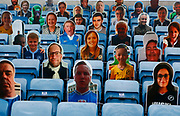 Cardboard cutouts of Millwall fans look on to the match during EFL Sky Bet Championship between Millwall and Derby County at The Den Stadium, Saturday, June 20, 2020, in London, United Kingdom. (ESPA-Images/Image of Sport)
