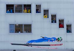 31.12.2017, Olympiaschanze, Garmisch Partenkirchen, GER, FIS Weltcup Ski Sprung, Vierschanzentournee, Garmisch Partenkirchen, Training, im Bild Ziga Jelar (SLO) // Ziga Jelar of Slovenia during his Practice Jump for the Four Hills Tournament of FIS Ski Jumping World Cup at the Olympiaschanze in Garmisch Partenkirchen, Germany on 2017/12/31. EXPA Pictures © 2017, PhotoCredit: EXPA/ Jakob Gruber