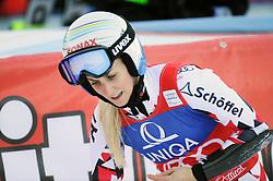 28.12.2015, Hochstein, Lienz, AUT, FIS Weltcup Ski Alpin, Lienz, Riesenslalom, Damen, 2. Durchgang, im Bild Eva-Maria Brem (AUT) // Eva-Maria Brem of Austria reacts after 2nd run of ladies Giant Slalom of the Lienz FIS Ski Alpine World Cup at the Hochstein in Lienz, Austria on 2015/12/28. EXPA Pictures © 2015, PhotoCredit: EXPA/ Erich Spiess