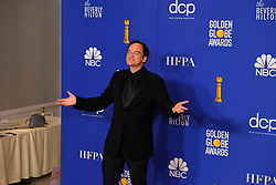 January 5, 2020, Beverly Hills, California, USA: QUENTIN TARANTINO share a laugh in the Press Room during the 77th Annual Golden Globe Awards, at The Beverly Hilton Hotel. (Credit Image: © Kevin Sullivan via ZUMA Wire)