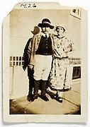 damaged image of dressed up couple 1926