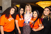 Actress January Jones (center) with Step Up Women's Network students
