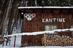 04-02-2011 SKIEN:  FIS ALPINE WORLD CHAMPIONSSHIP: GARMISCH PARTENKIRCHEN<br />  A cafe left over from the 1936 Olympics at the finish area of the old bobsledge course.   <br /> **NETHERLANDS ONLY**<br /> ©2011-WWW.FOTOHOOGENDOORN.NL/NPH-Mitchell Gunn