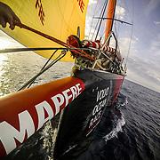 Leg Zero, St. Malo - Lisbon: DCIM\167_VIRB\VIRB0241- on board xx, . Photo by Jen Edney/Volvo Ocean Race. 14August, 2017