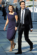 © Licensed to London News Pictures. 27/09/2011. LONDON, UK. David Miliband, Leader of the Labour Party arrives with his wife Justine to deliver his leaders speech at The Labour Party Conference in Liverpool today (27/09/11). Photo credit:  Stephen Simpson/LNP