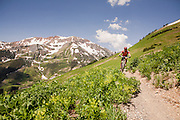 Mountain biking, Crested Butte, CO.