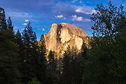 Evening light on Half Dome, Yosemite National Park, California USA