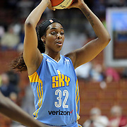 UNCASVILLE, CONNECTICUT- MAY 05:  Cheyenne Parker #32 of the Chicago Sky in action during the Atlanta Dream Vs Chicago Sky preseason WNBA game at Mohegan Sun Arena on May 05, 2016 in Uncasville. (Photo by Tim Clayton/Corbis via Getty Images)