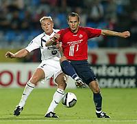 Fotball<br /> Frankrike 2004/05<br /> Lille v Bordeaux<br /> 21. august 2004<br /> Foto: Digitalsport<br /> NORWAY ONLY<br />  LILIAN LASLANDES (BOR) / GREGORY TAFFOREAU (LIL)