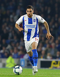 """Brighton & Hove Albion's Alireza Jahanbakhsh during the Premier League match at the AMEX Stadium, Brighton. PRESS ASSOCIATION Photo. Picture date: Friday October 5, 2018. See PA story SOCCER Brighton. Photo credit should read: Gareth Fuller/PA Wire. RESTRICTIONS: EDITORIAL USE ONLY No use with unauthorised audio, video, data, fixture lists, club/league logos or """"live"""" services. Online in-match use limited to 120 images, no video emulation. No use in betting, games or single club/league/player publications."""