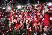 Queensland Reds  following their victory in the Super Rugby Final at Suncorp Stadium in Brisbane,  July 9, 2011.  Photo: Patrick Hamilton/Photosport