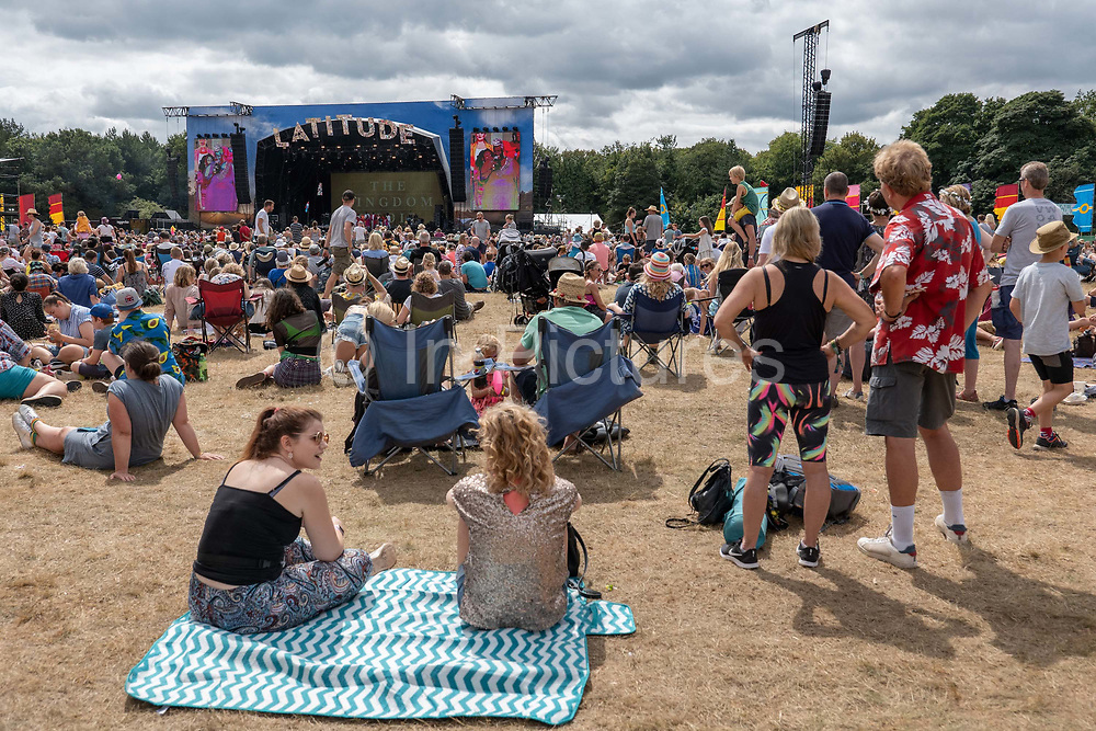 Large crowds gather for The Kingdom Choir at the Obelisk Arena main stage during Latitude Festival on the 21st July 2019 in Southwold in the United Kingdom.