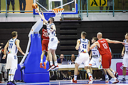 Ziga Dimec of Slovenia during friendly basketball match between National teams of Slovenia and Hungary on day 1 of Adecco Cup 2017, on August 4th in Arena Tabor, Maribor, Slovenia. Photo by Grega Valancic/ Sportida