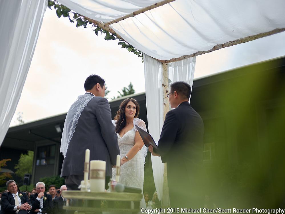 2015/09/12 -- Courtney & Darwin --Courtney & Darwin Wedding at the Hyatt Regency in Monterey, Calif. #youandi91215<br /> <br /> Photo by Michael Chen/Scott Roeder Photography