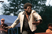 Charles Bradley and The Budos Band, live at the Nelsonville Music Festival, Friday May 18 2012 8:30pm, photo by Mara Robinson