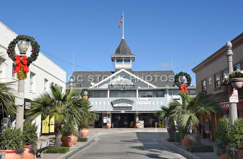 The Balboa Pavilion Newport Beach at Christmas