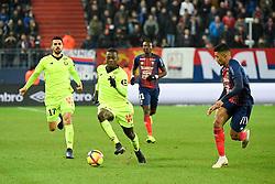 January 11, 2019 - Caen, France - 19 NICOLAS PEPE (LIL) - 17 MEHMET ZEKI CELIK (LIL) - 03 YOEL ARMOUGOM  (Credit Image: © Panoramic via ZUMA Press)