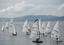Caledonia MacBrayne Largs Regatta Week 2016<br /> <br /> Dinghy Fleet coming ashore<br /> <br /> Credit Marc Turner / PFM Pictures.co.uk