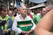 Uruguay / Montevideo / 2016<br /> Edgardo Novick y el Partido de la Gente. Presentacion de las firmas para la inscripcion en la Corte Electoral del Partido de la Gente liderardo por Edgrado Novick. Montevideo, 07/11/2016.<br /> Foto: Ricardo Antúnez / adhocFOTOS
