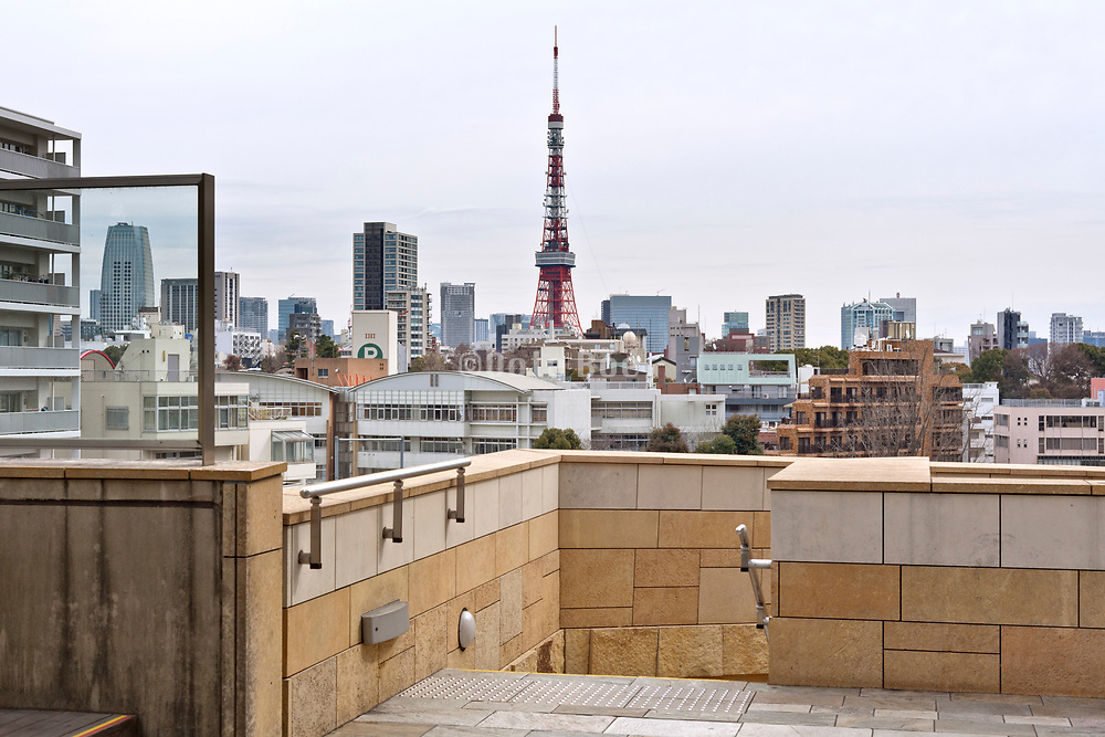 Tokyo tower with the Minato cityscape seen from Roppongi hills