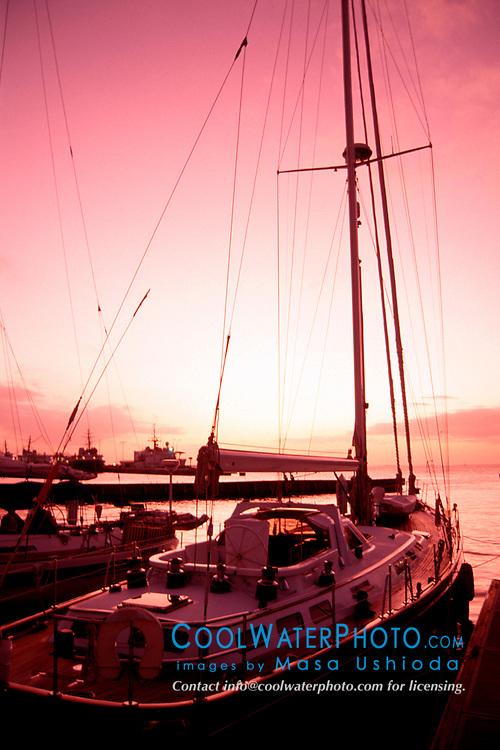 sailboat at sunset, Key West, Florida