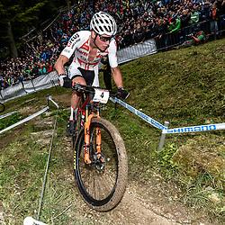20-05-2018: Wielrennen: WC MTB: Albstadt<br />Mathieu van der Poel wordt derde in WB MTB in het Duitse Albstadt