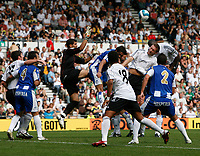 Photo: Steve Bond.<br />Derby County v RCD Espanyol. Pre Season Friendly. 04/08/2007. Goalmouth action as keeper Iraizoz goes for the ball