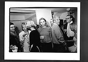 Bridget Hall, Jeffrey Epstein. Upper West side party. Manhattan. 1995