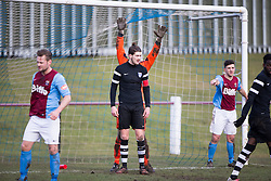Edusport Academy Quentin Fouley. <br /> Whitehill Welfare 2 v 1 Edusport Academy, South Challenge Cup Quarter Final played 7/3/2015 at Ferguson Park, Carnethie Street, Rosewell.