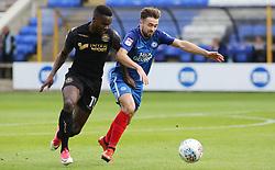 Gwion Edwards of Peterborough United battles with Gavin Massey of Wigan Athletic - Mandatory by-line: Joe Dent/JMP - 23/09/2017 - FOOTBALL - ABAX Stadium - Peterborough, England - Peterborough United v Wigan Athletic - Sky Bet League One
