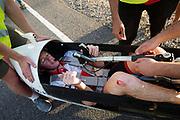 Charles Easton-Berry tijdens de derde racedag. In Battle Mountain (Nevada) wordt ieder jaar de World Human Powered Speed Challenge gehouden. Tijdens deze wedstrijd wordt geprobeerd zo hard mogelijk te fietsen op pure menskracht. De deelnemers bestaan zowel uit teams van universiteiten als uit hobbyisten. Met de gestroomlijnde fietsen willen ze laten zien wat mogelijk is met menskracht.<br /> <br /> In Battle Mountain (Nevada) each year the World Human Powered Speed Challenge is held. During this race they try to ride on pure manpower as hard as possible.The participants consist of both teams from universities and from hobbyists. With the sleek bikes they want to show what is possible with human power.