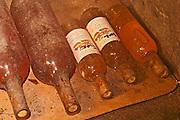 Some dusty old bottles of sauternes in the cellar. - Chateau Haut Bergeron, Sauternes, Bordeaux