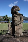 Tiki statue, on Nuku Hiva island, French Polynesia