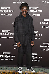 King Owusu attends the photocell for The Pirelli 2018 Calendar by Tim Walker Launch Press Conference at the Pierre Hotel in New York, NY, on November 10, 2017. (Photo by Anthony Behar/Sipa USA)